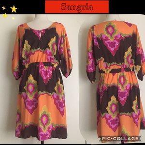 Sangria Dress Size 12 Multicolor
